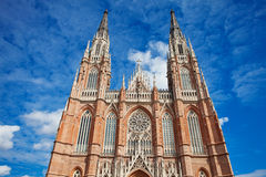 The Cathedral in the city of La Plata Stock Photography