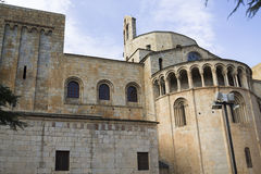 The cathedral of the city La Seu d'Urgell Royalty Free Stock Photo