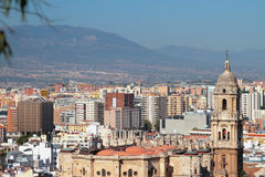 Cathedral and city. Malaga, Spain Royalty Free Stock Photography