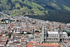 Gothiic style in Quito, Ecuador stock photo