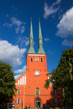 Cathedral in the city of Vaxjo, Sweden Stock Photos
