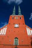 Cathedral in the city of Vaxjo, Sweden Royalty Free Stock Image