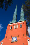 Cathedral in the city of Vaxjo, Sweden Stock Image