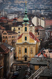 Cathedral in city view. View of a Cathedral in Budapest, Hungary Royalty Free Stock Photos