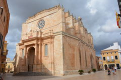 Cathedral of Ciutadella Royalty Free Stock Images