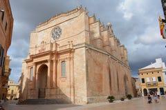 Cathedral of Ciutadella. Cathedral of Santa Maria, Ciutadella, Menorca, Spain Royalty Free Stock Images