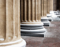 Cathedral classic columns Royalty Free Stock Photography