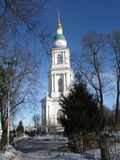 Cathedral at clear day. Old-time town cathedral at clear day stock images