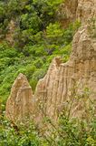 Cathedral cliffs South island of New Zealand Stock Images