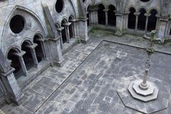 Cathedral cloister - Oporto Royalty Free Stock Images