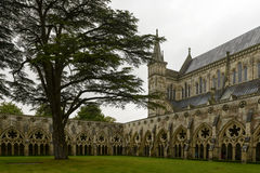 Cathedral and cloister , Salisbury Stock Photography