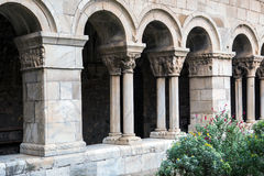 Cathedral cloisters in Elne Stock Image