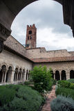 Cathedral cloisters in Elne Stock Photo