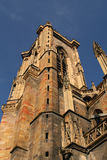 Cathedral in Colmar. Tower Cathedral in the Colmar Royalty Free Stock Image