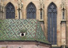 Cathedral in Colmar Stock Images