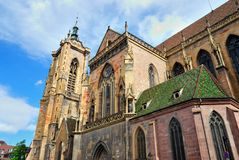 Cathedral of Colmar (Alsace) Stock Photo