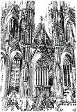 Cathedral in Cologne. royalty free illustration