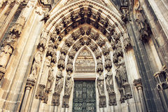 The cathedral of Cologne detail Stock Photos