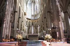 Cathedral Cologne Interior Royalty Free Stock Photo
