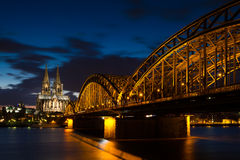 Cathedral of Cologne at twilight Stock Photos