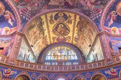 Cathedral of Colours in Romania stock photos