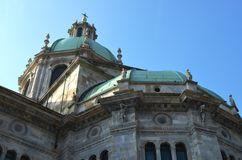 Cathedral in Como, Italy. Detail of the Cathedral in Como, Italy, in a sunny day Stock Photo