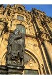 cathedral compostela de detail Σαντιάγο στοκ εικόνα