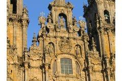 cathedral compostela de facade Σαντιάγο Στοκ Φωτογραφίες