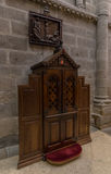 Cathedral Confessional Royalty Free Stock Photo