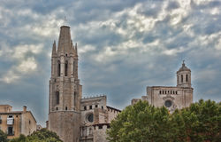 Cathedral is considered to be the hallmark of Girona Royalty Free Stock Photos