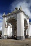 Cathedral of Copacabana, Bolivia. The Moorish style cathedral of Copacabana in Bolivia Stock Image