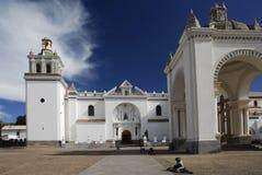 Cathedral of Copacabana, Bolivia. The Moorish style cathedral of Copacabana in Bolivia Royalty Free Stock Image