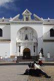 Cathedral of Copacabana, Bolivia. The Moorish style cathedral of Copacabana in Bolivia Royalty Free Stock Images