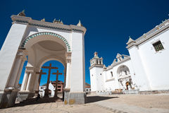 Cathedral - Copacabana, Bolivia Royalty Free Stock Photos