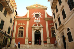 Cathedral in Corfu Town (Greece) Royalty Free Stock Photography