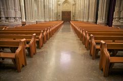 Cathedral corridor Stock Photos
