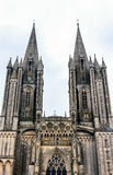 Cathedral in Coutances, Normandy, France Stock Photos