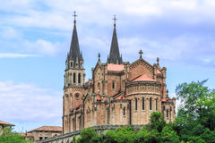 Cathedral of Covadonga Stock Photography