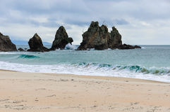 Cathedral Cove Beach in the Coromandel Peninsula, New Zealand Royalty Free Stock Photography