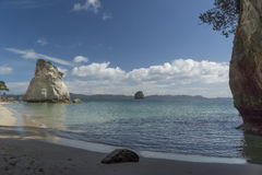 Cathedral Cove beach. New Zealand Royalty Free Stock Images