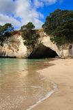 Cathedral Cove Coromandel Arch. In New Zealand Royalty Free Stock Photo