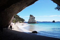 Cathedral Cove, Coromandel Peninsula, New Zealand Stock Images