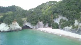Cathedral Cove in the Coromandel Peninsula, New Zealand stock video