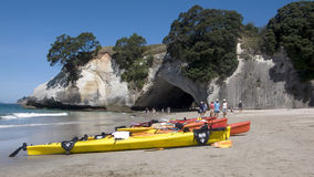 Cathedral Cove, The Coromandel. You can reach the cove, by boat or to foot Stock Image