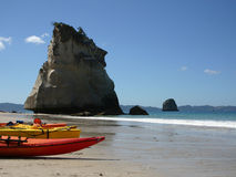 Cathedral Cove New Zealand Royalty Free Stock Photography
