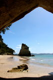 Cathedral Cove New Zealand Stock Photo