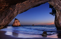 Cathedral Cove, New Zealand Stock Images