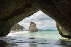 Cathedral Cove, North Island, New Zealand Royalty Free Stock Images