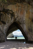 Cathedral Cove, North Island, New Zealand Royalty Free Stock Photography