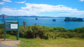 Cathedral Cove Walk. Coromandel walk Royalty Free Stock Photos